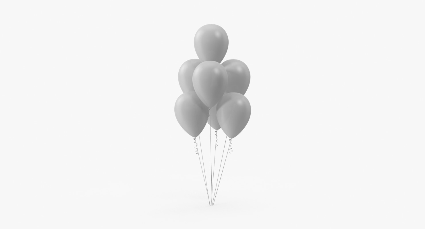 bunch balloons 3d model