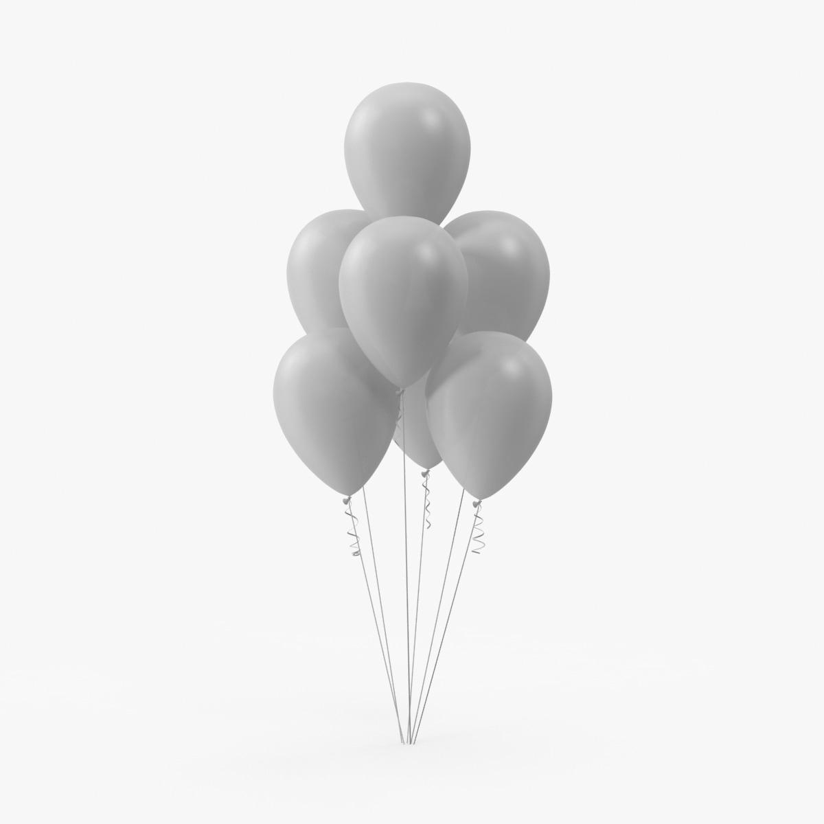 bunch balloons 3d model
