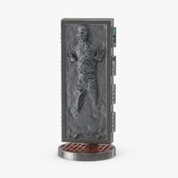 3d han solo carbonite base