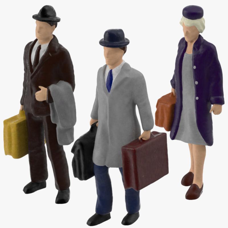 3d model of miniatures travelers