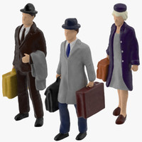 3d model of miniatures travelers