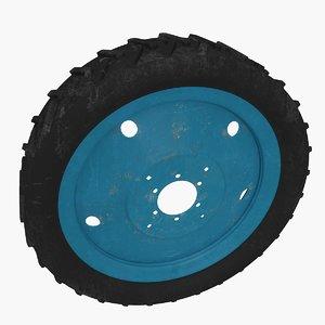 tractor tires 3d model