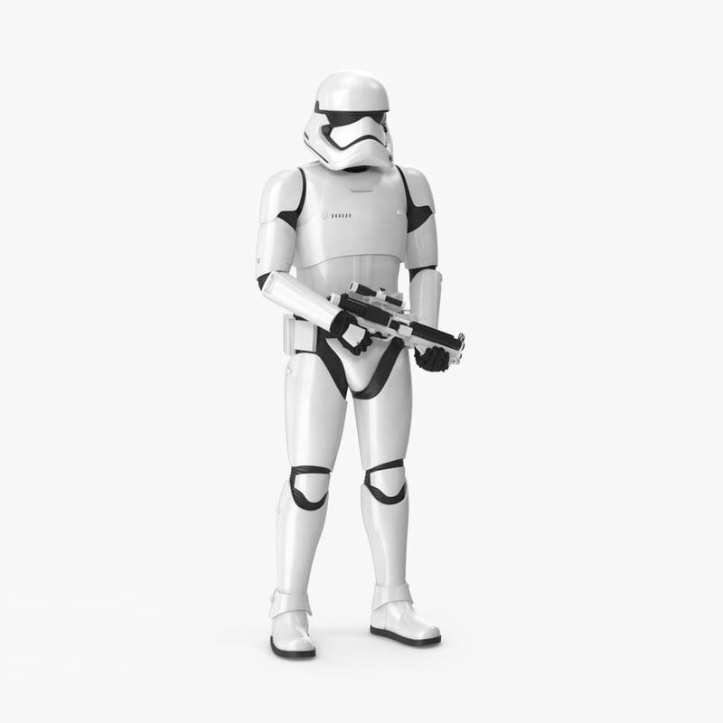 3d model of standing stormtrooper