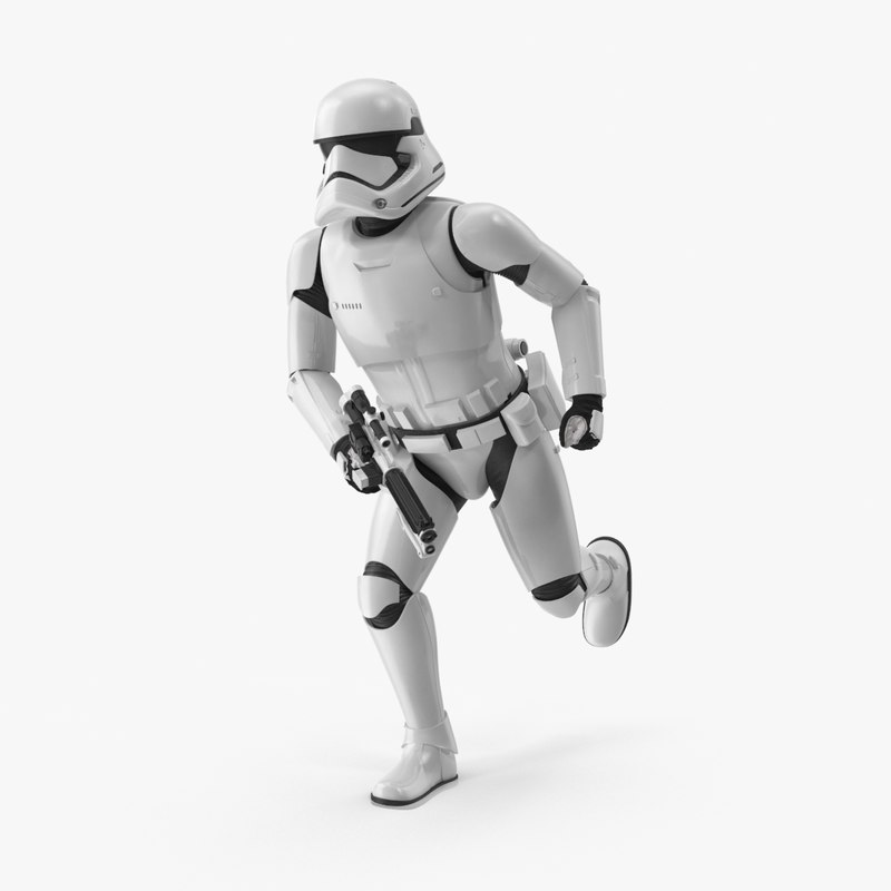 running stormtrooper 3d model