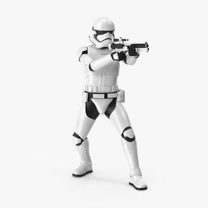 3d shooting stormtrooper