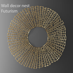 wall decor futuristic coral 3d model