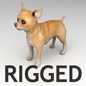 chihuahua rigged 3d max