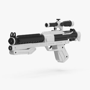 3d stormtrooper blaster model