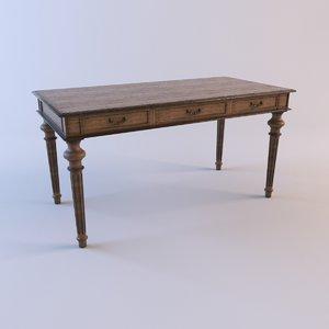 desk clarke 3d model