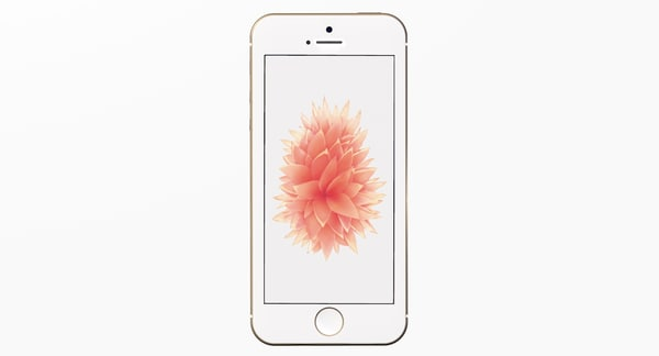 new iphone se gold 3d model