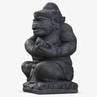 3d model statue bali