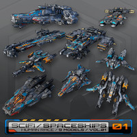 9 Low-Res Spaceships