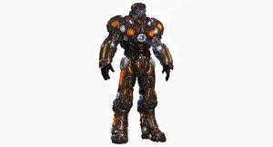 3d model sci fi power armor