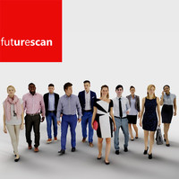 3d architectural scan people