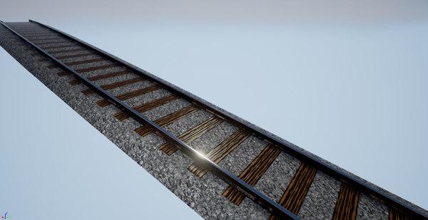 segment spline railroad obj free
