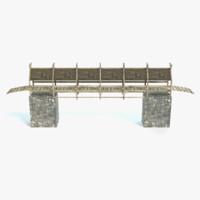 medieval bridge 3d model