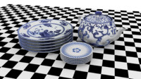 set porcelain 3d 3ds