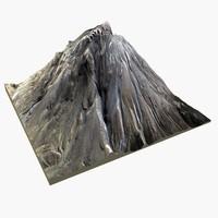 mountain volcano 3d max