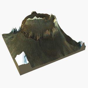 3d model mountain volcano