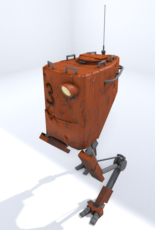 3d model walker robot