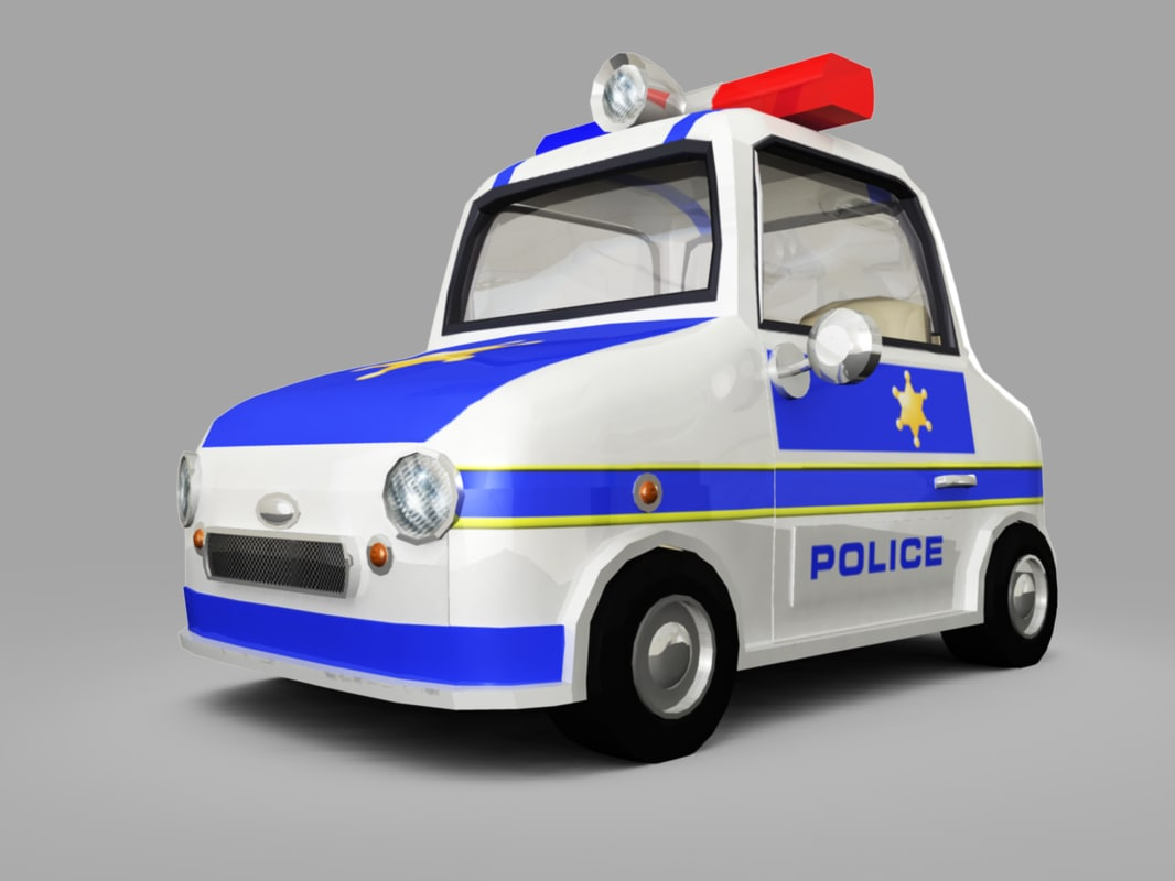3d police toy car model