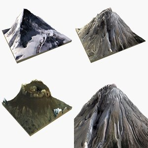 mountain pack 3=2 3d model