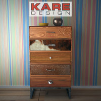 3d model kare cabinet-rodeo