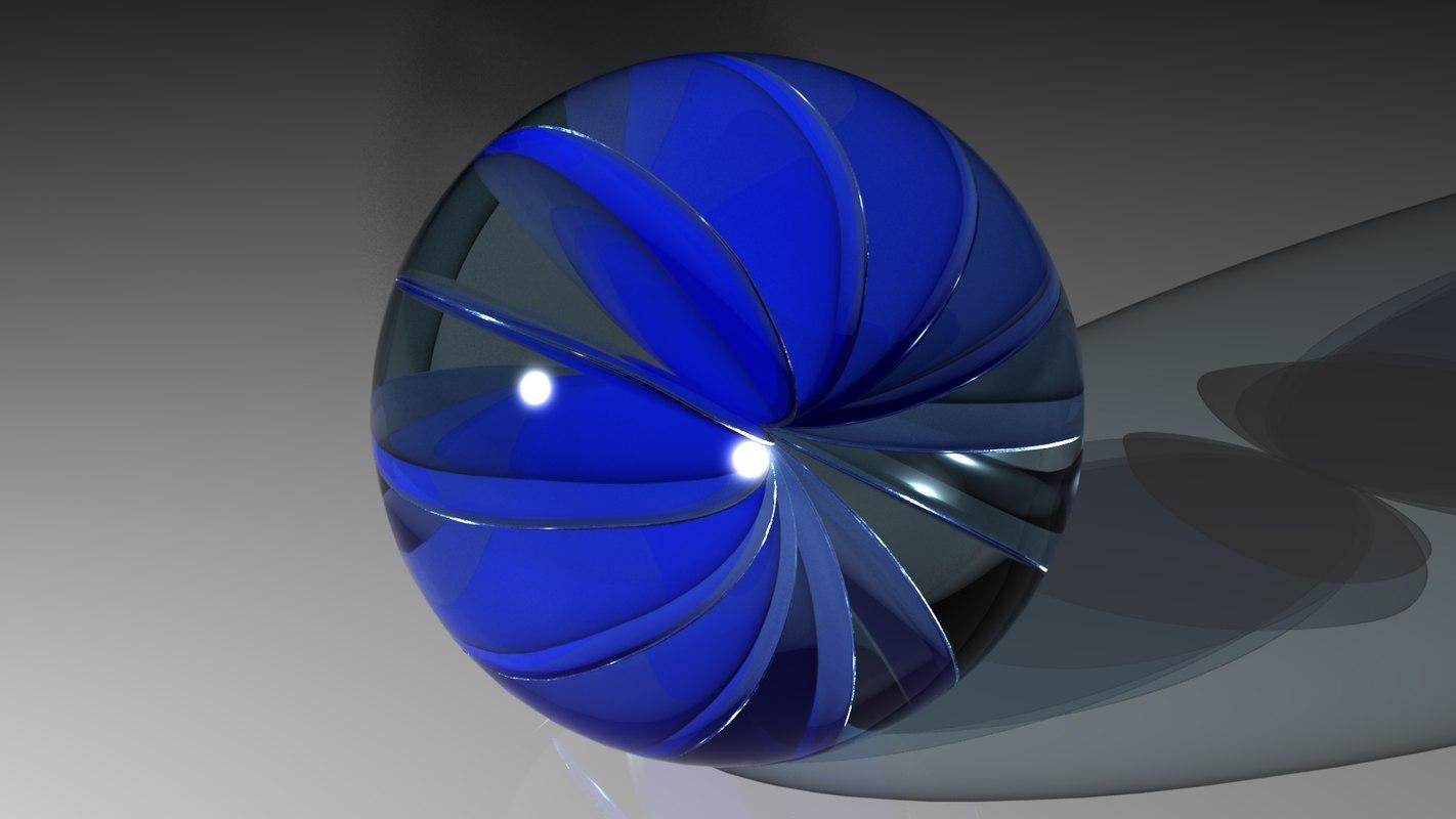 3d obj marble toy