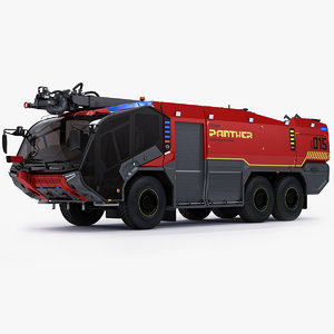 3d rosenbauer panther 6x6 new model