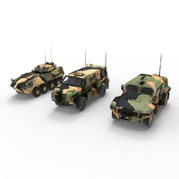3d model of australian army vehicles