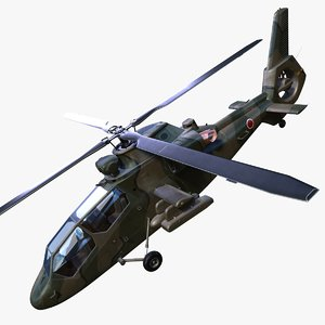 3d obj kawasaki oh-1 ninja helicopter