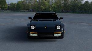 3d model porsche 944 turbo hdri