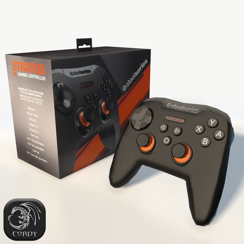 steelseries gamepad 3d model