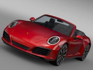 porsche 911 carrera cabriolet 3d model