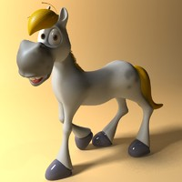 cartoon horse rigged anime 3d model
