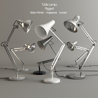 3d set table lamps rigged