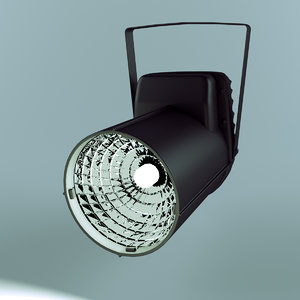 3d model spotlight projector light