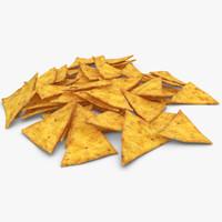 3d realistic tortilla chip model