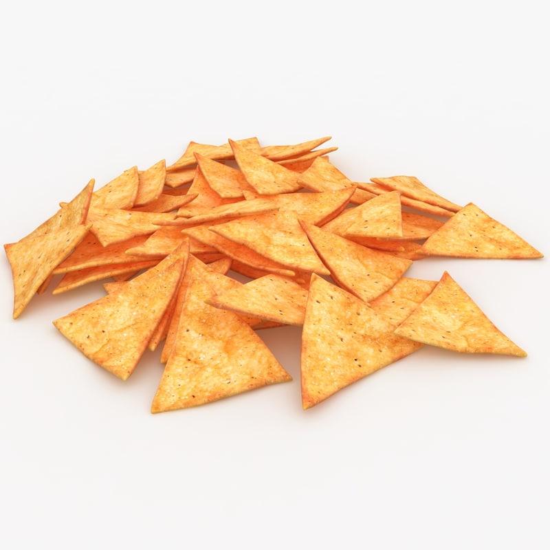 3ds realistic tortilla chip 2