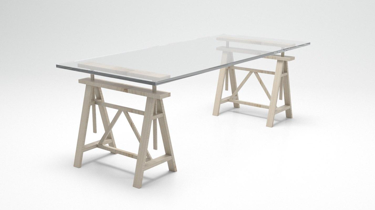 3d model table teatro