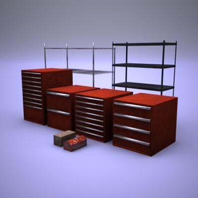 tool box garage 3d max