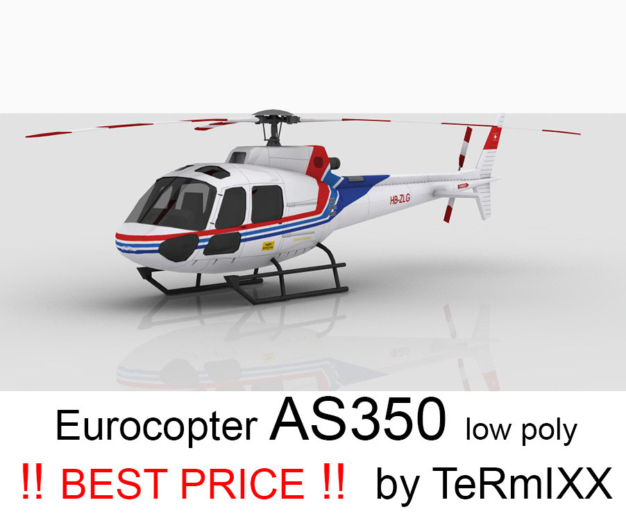 3d helicopter eurocopter as350