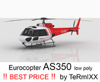 helicopter eurocopter as350 3d model