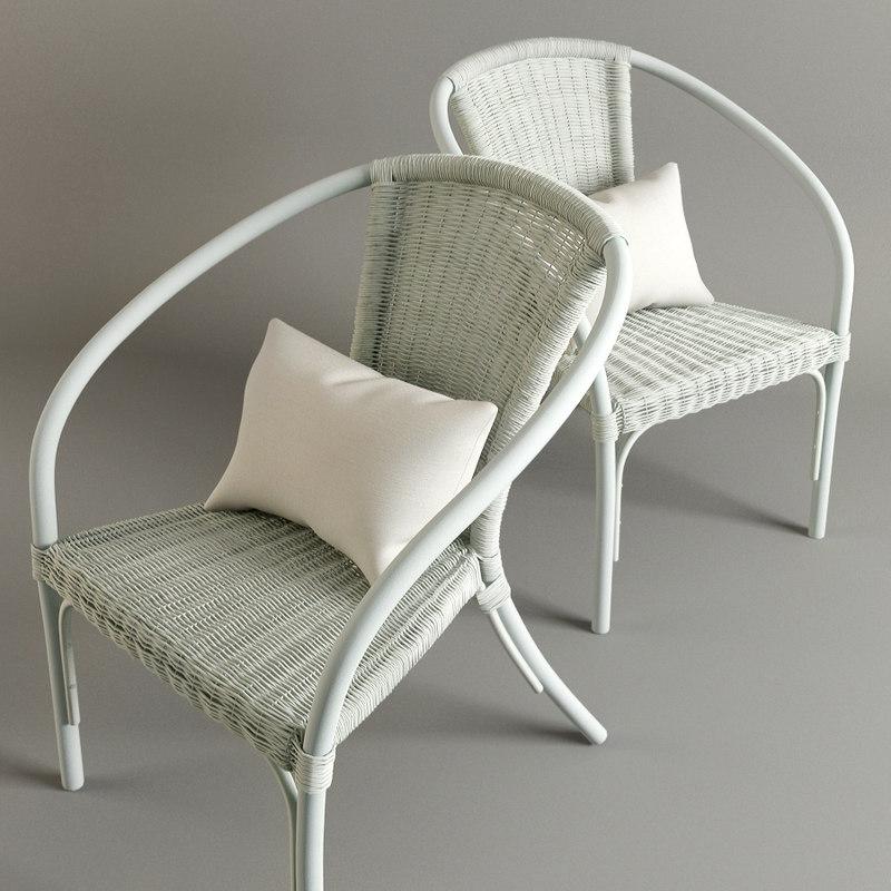 3d chair pillow fur