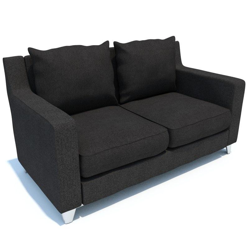 3d model loveseat sofa
