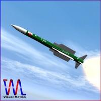 3d model ra missile