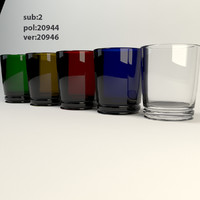3d drink glass colors model