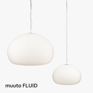 3d model of muuto fluid lamps