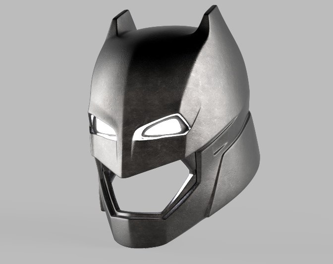 batman armor helmet v 3d model