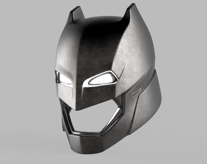 Batman Armor Helmet V 3d Model